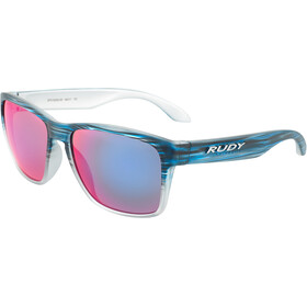 Rudy Project Spinhawk Okulary rowerowe, blue streaked matte - polar 3fx hdr multilaser red